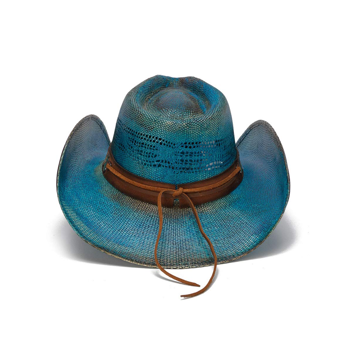 Stampede Hats Women's Love Story Rose Straw Western Hat M Blue by Stampede Hats (Image #4)