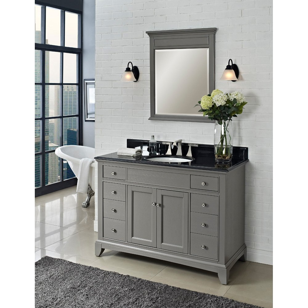 Fairmont Designs V Smithfield Vanity Medium Gray - 48 inch grey bathroom vanity