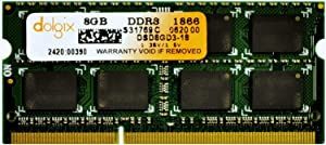 DOLGIX 8GB DDR3 1866MHz PC3-14900 SODIMM 1.35V CL13 2Rx8 Dual Rank 204 Pin Laptop Memory