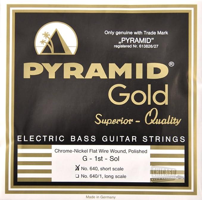 Pirámide Oro Flatwound cuerdas para bajo (escala corta 40 – 100 ...