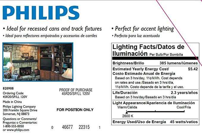 Philips 223156 Duramax 45-Watt R20 Indoor Spot Light Bulb, 12-Pack