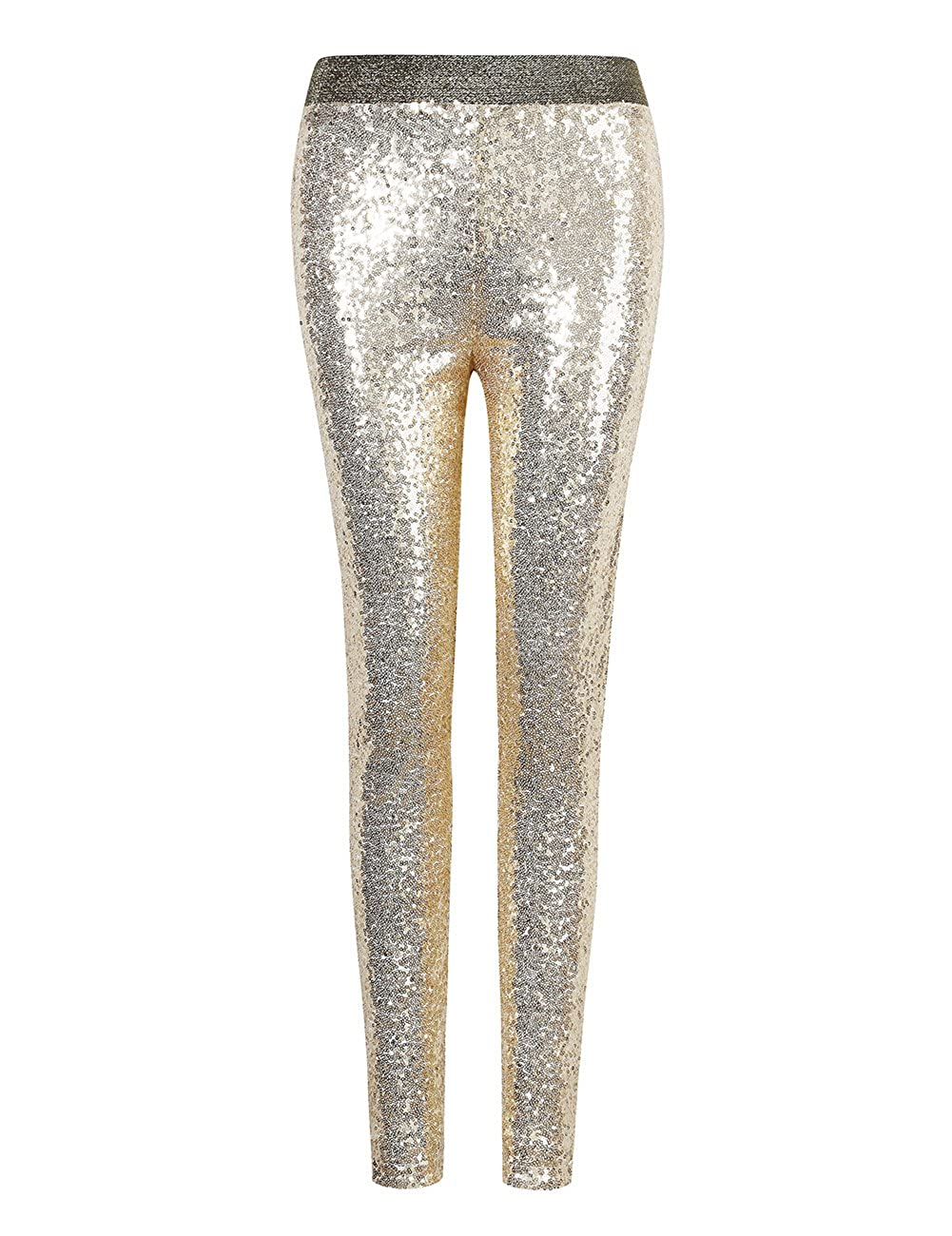 Lanlan Women Fashion Shiny Sequin Stretch Underwear Skinny Legging Tight Pant XJSJ-0502-MC01