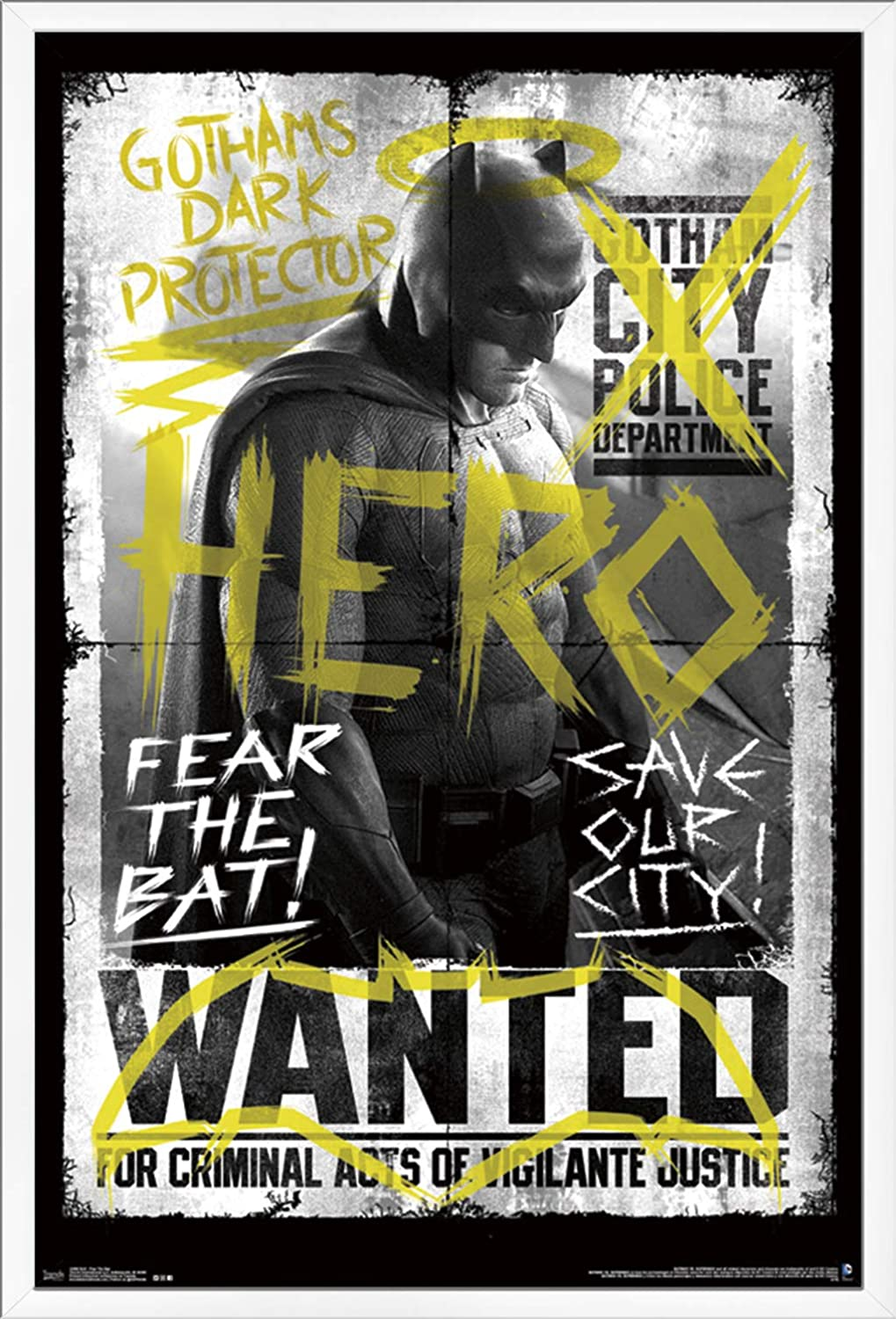 Trends International DC Comics Movie - Batman v Superman - Fear The Bat Wall Poster, 22.375