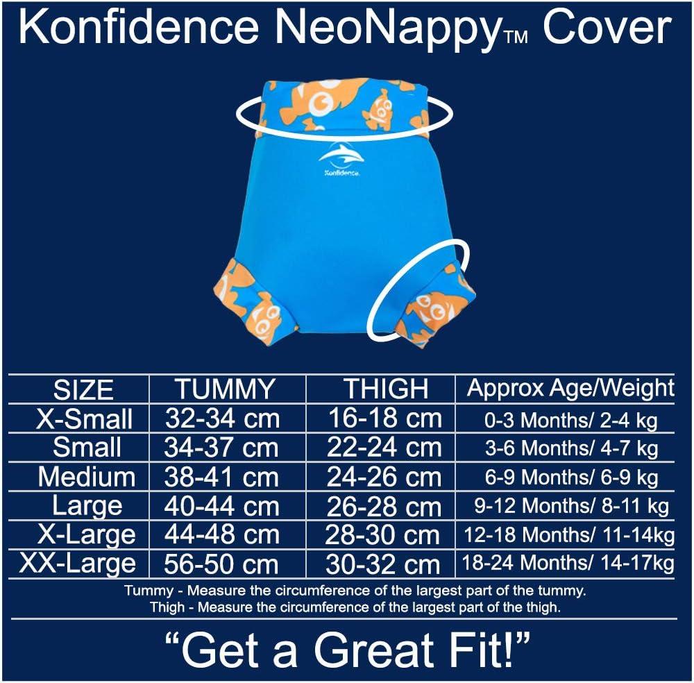 Konfidence Baby Swim Set Clownfish, BWRB05-06-18, NN141-06 Babywarma /& NeoNappy Swim Nappy Cover