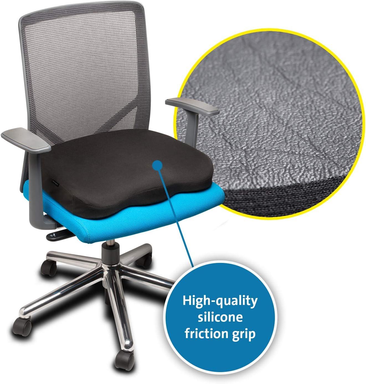 Kensington Ergonomic Memory Foam Seat Rest K55805ww Office Products