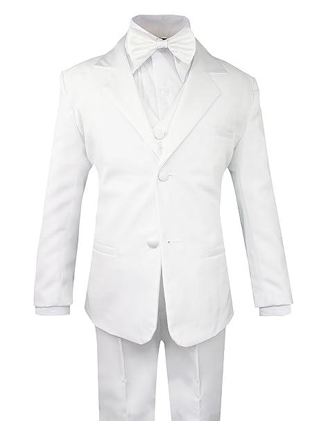 bc7ca87b73d Luca Gabriel Toddler Boys  5 Piece Classic Fit Formal White Suit Bowtie Set  - Size 2t  Amazon.ca  Luggage   Bags