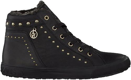 Armani Jeans da Donna Scarpe da Ginnastica Sneakers con Borchie in Nero ac1bb6cecaf