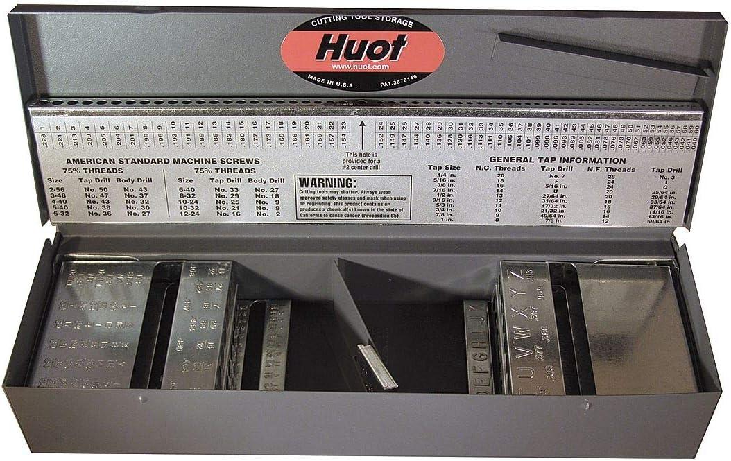 Huot 11750 - Caja para brocas de taladro (longitud del trabajo): Amazon.es: Bricolaje y herramientas