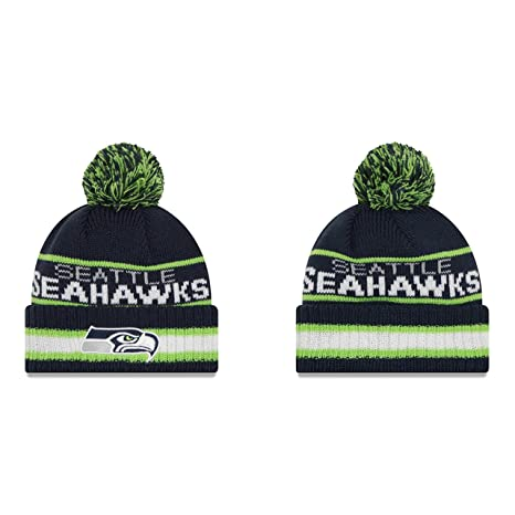 new concept 9c021 6b1af Image Unavailable. Image not available for. Color  Seattle Seahawks New Era  NFL  quot Vintage Select quot  Cuffed Knit Hat with Pom