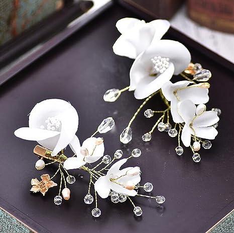 Amazon Com Mdrw Bride Wedding Prom Hair Pins Thehand Beaded