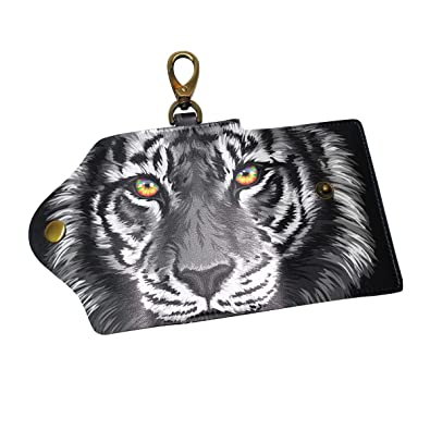 670a04706e Image Unavailable. Image not available for. Color: Leather Key Case Wallet Black  Tiger ...