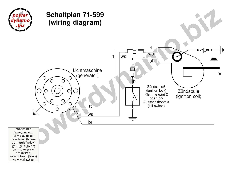 Powerdynamo Ignition Only System Stator Bultaco 38oz Flywheel Single Wiring Diagram Spark Car Motorbike