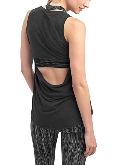 54ab1033 Bestisun Cowl Back Backless Shirts Yoga Tops Activewear Workout Clothes  Sports Racerback Tank Tops for Women