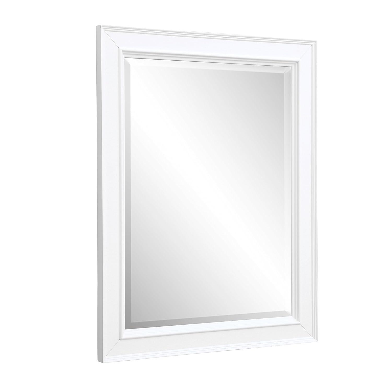 "Kitchen Bath Collection MR01WT Napa Bathroom Wall Mirror 28"" White"