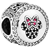Pandora Women's Mickey and Minnie Limited Edition Sparkling Icon Charm - Silver Plated