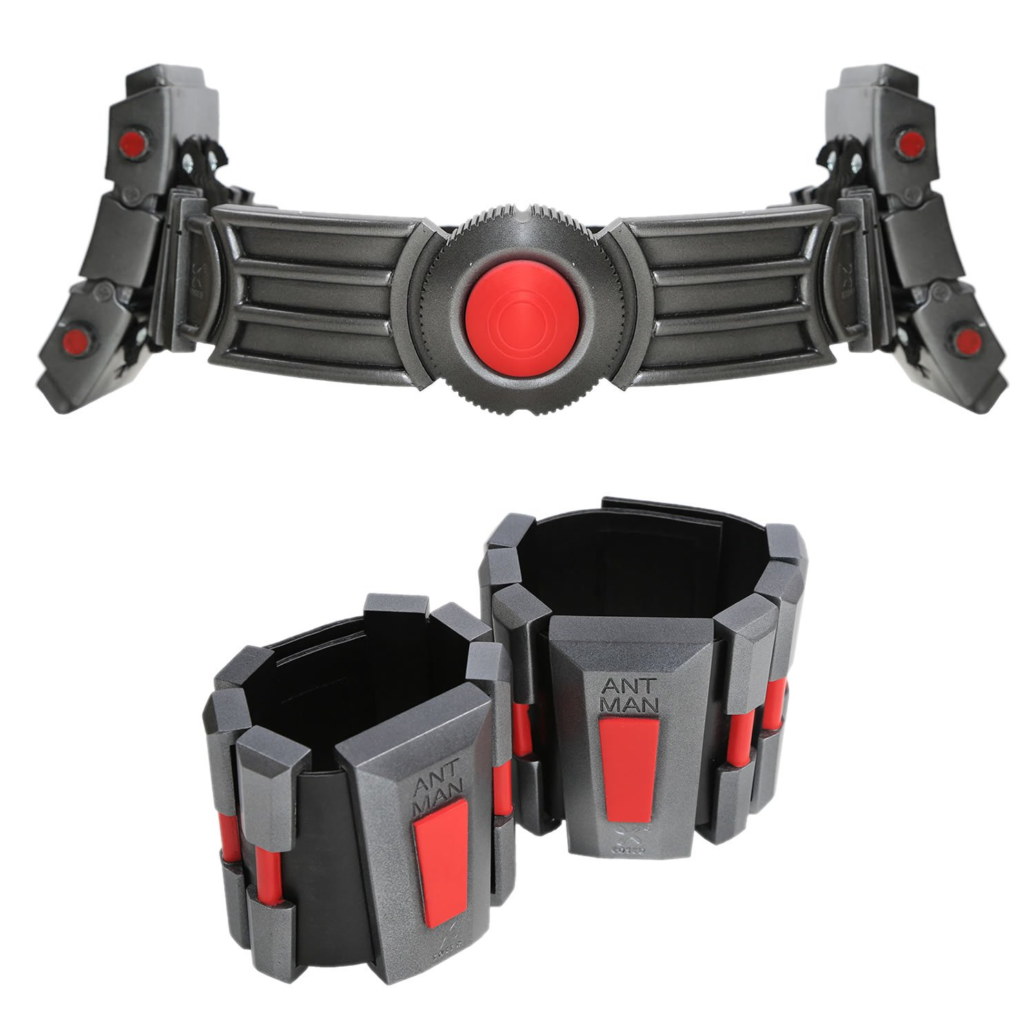 Ant-Man Cosplay Belt Wristguard Men's Costume Props with LED for Halloween Adult