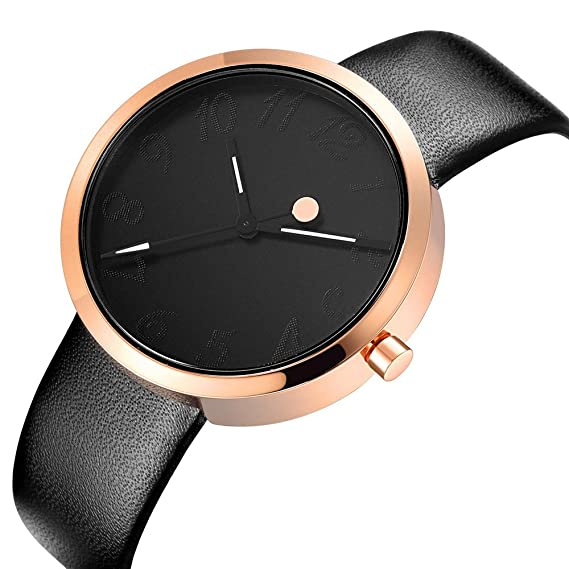 Watch Womens Ladies Fashion Luxury Dress Analog Watches Black Band Minimalist Quartz Ultra Thin Watch-