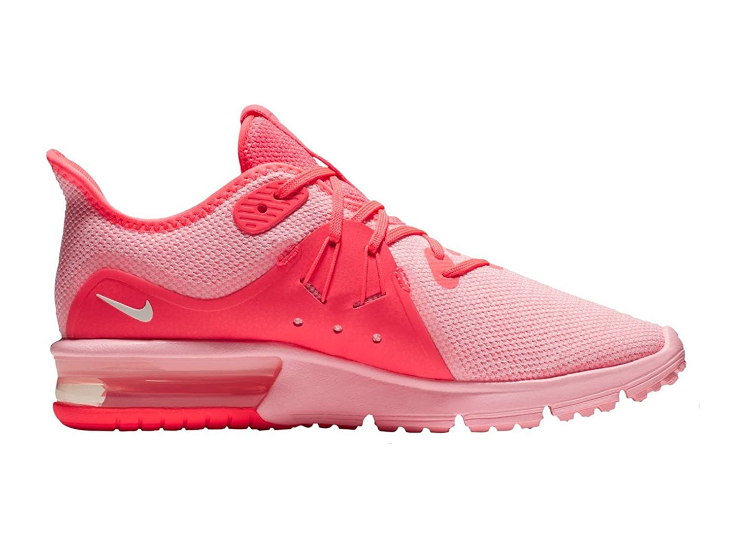 daa8f9bfab08 Amazon.com  NIKE Women s Air Max Sequent 3 Hot Punch Summit White Arctic  Punch Nylon Running Shoes 6 B(M) US  Shoes
