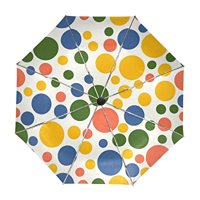outlet My Daily Cute Colorful Polka Dot Travel Umbrella Auto Open Close UV Protection Windproof Lightweight Umbrella