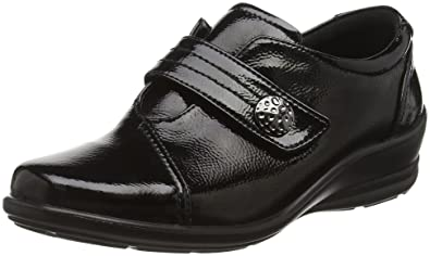 Damen Slipper, Schwarz - Schwarz (60 Black Patent) - Größe: 42 Padders