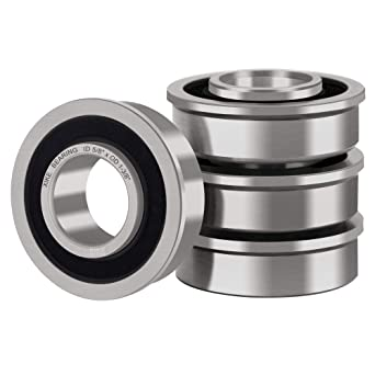 Stamped Steel Flanged Wheel Bearing 5//8x1 3//8 inch Ball Bearings