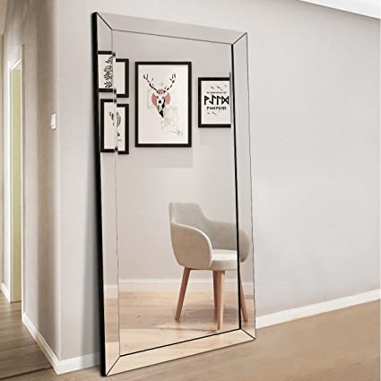 full length floor mirror Amazon.com: JHS TECH Full Length Floor Mirror for Bedroom Bathroom  full length floor mirror