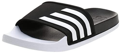 Adidas Unisex Adult Black Slippers-6 UK
