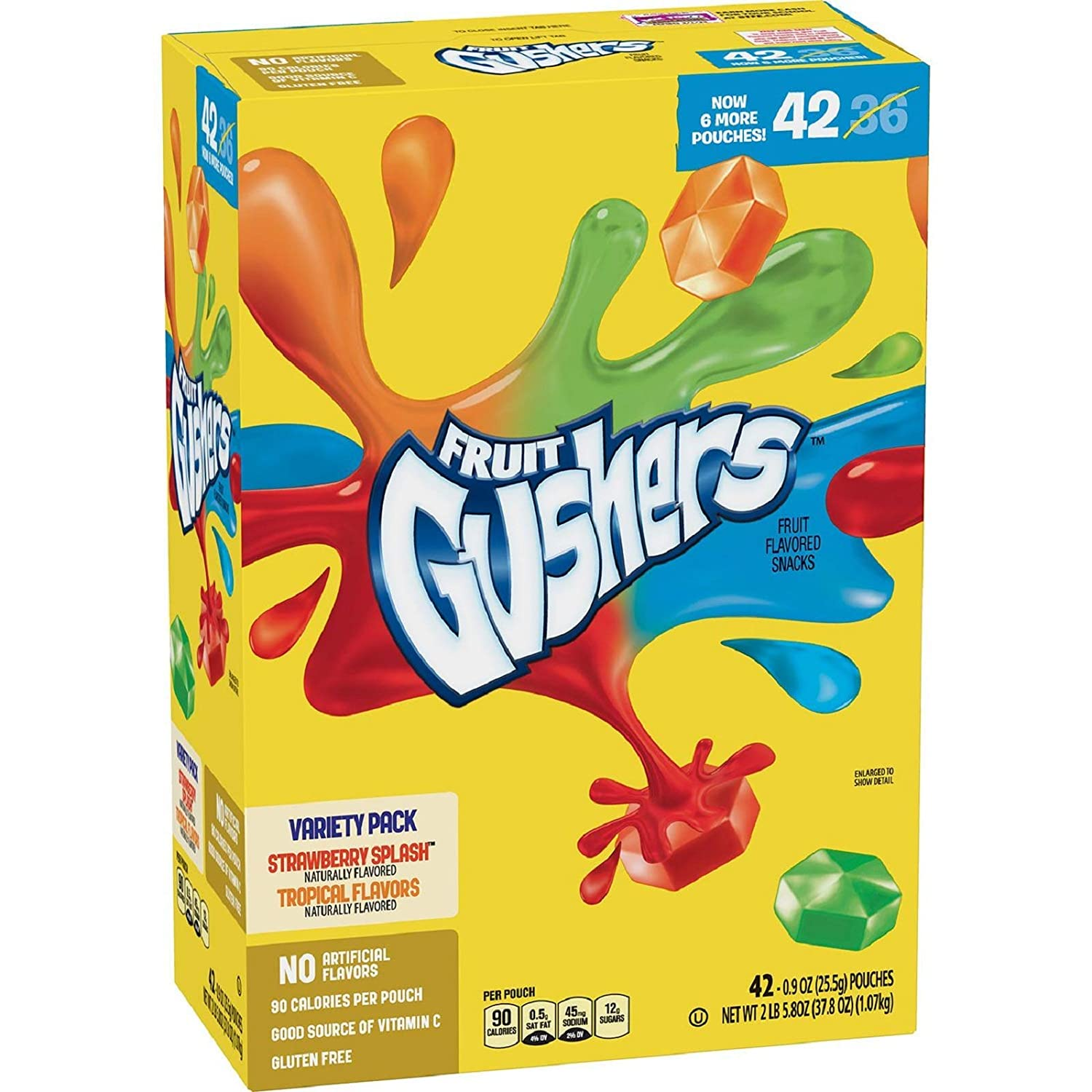 Fruit Fruit Fruit Gushers Variety Pack, Strawberry Splash & Tropical (42 ct.) A1