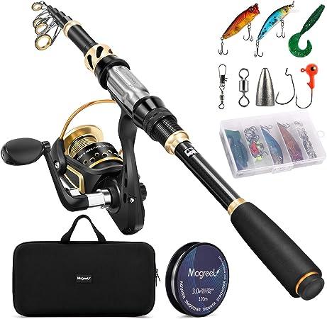 Fishing Rod mit Teleskopstange 6 Abschnitten L/änge bis Angler Eillybird Mini Faltbare Angelrute