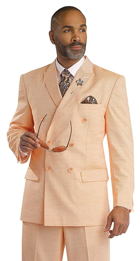 1930s Style Mens Suits  Peach Men 2 Piece Suit For Mens Apparel Clothing Suits M2672 $134.99 AT vintagedancer.com