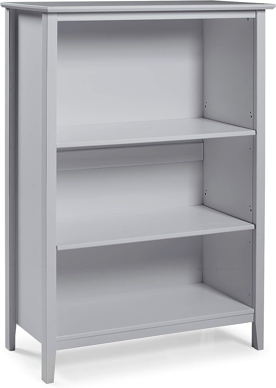 Alaterre Furniture Simplicity Tall Bookcase, Dove Gray
