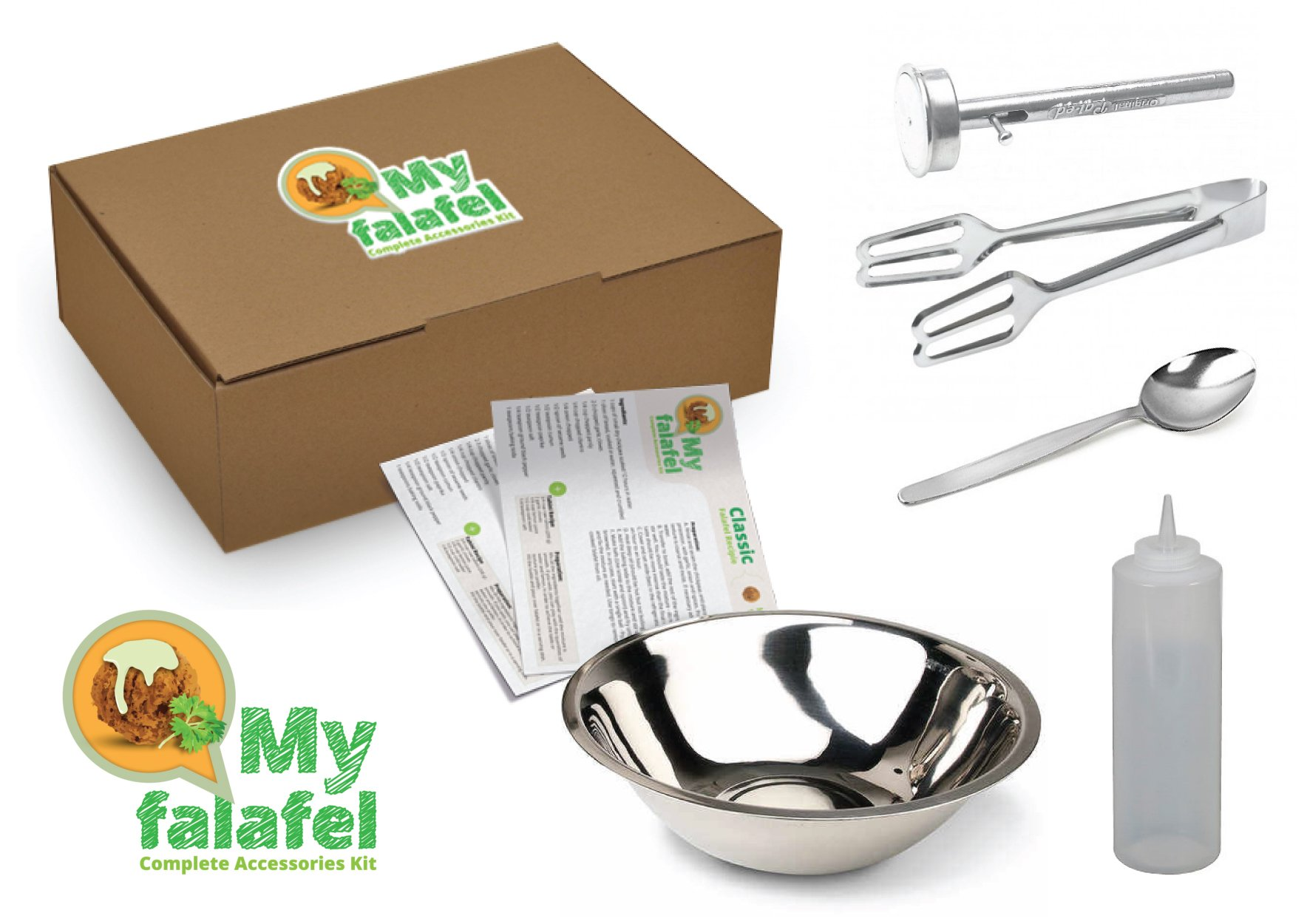 Comes with what you need to make Falafel