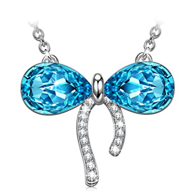 Amazon Paulinemorgen Necklaces For Her Women Bowtie Swarovski