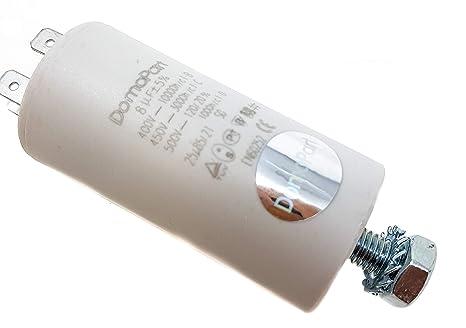 8 µf Universal Domopart Kondensator 450 V Weiß Gewerbe Industrie Wissenschaft