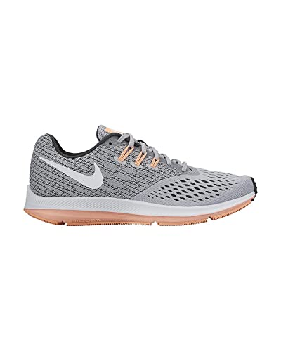 72ea5565aa5c3 Image Unavailable. Image not available for. Color  Nike Air Zoom Winflo 4  Wolf Grey White Anthracite Sunset Glow Women s Running
