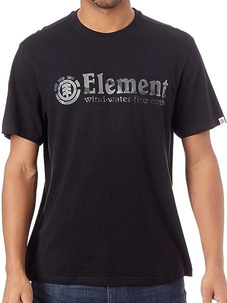 ELEMENT Camiseta Bark Horizontal Negro