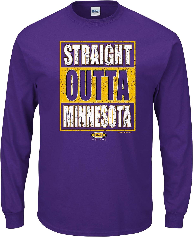 Smack Apparel Minnesota Football Fans Straight Outta Minnesota Purple T-Shirt Sm-5X