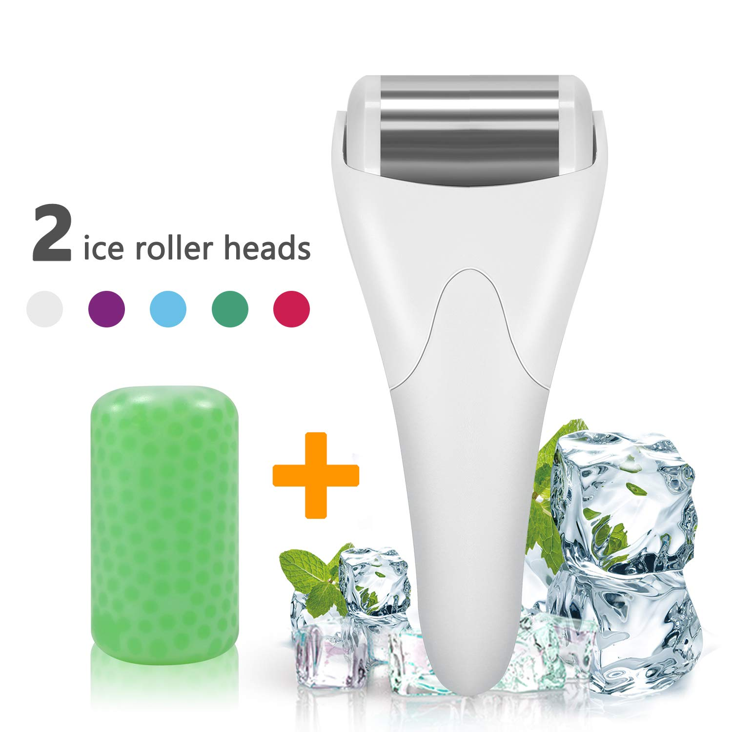 Ice Roller,SPANLA 2 Ice Rollers for Face & Eye,Puffiness,Migraine,Pain Relief and Minor Injury by SPANLA