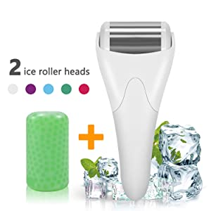 Ice Roller,SPANLA 2 Ice Rollers for Face & Eye,Puffiness,Migraine,Pain Relief and Minor Injury
