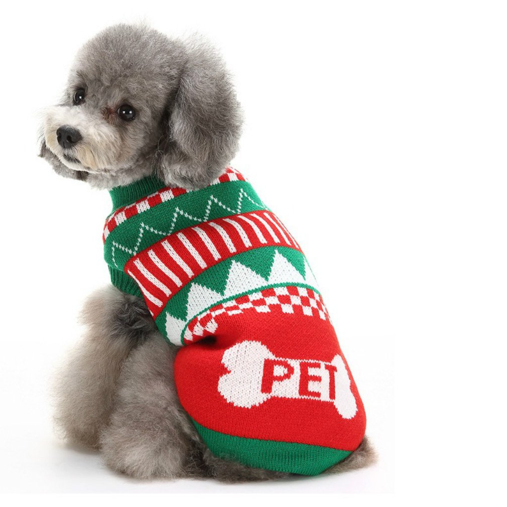 Clothes Sweatshirt For Dogs Christmas Holiday Festive Dog Sweater Designer Small Dog Sweater S 9'' Back Length, Small