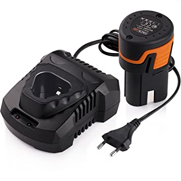 Baterías de Taladro 12V 2000mAh y Cargador de Taladro Tacklife, Voltaje Amplio 100~240V, 1.5 Horas de Carga Rápida -PPK01B