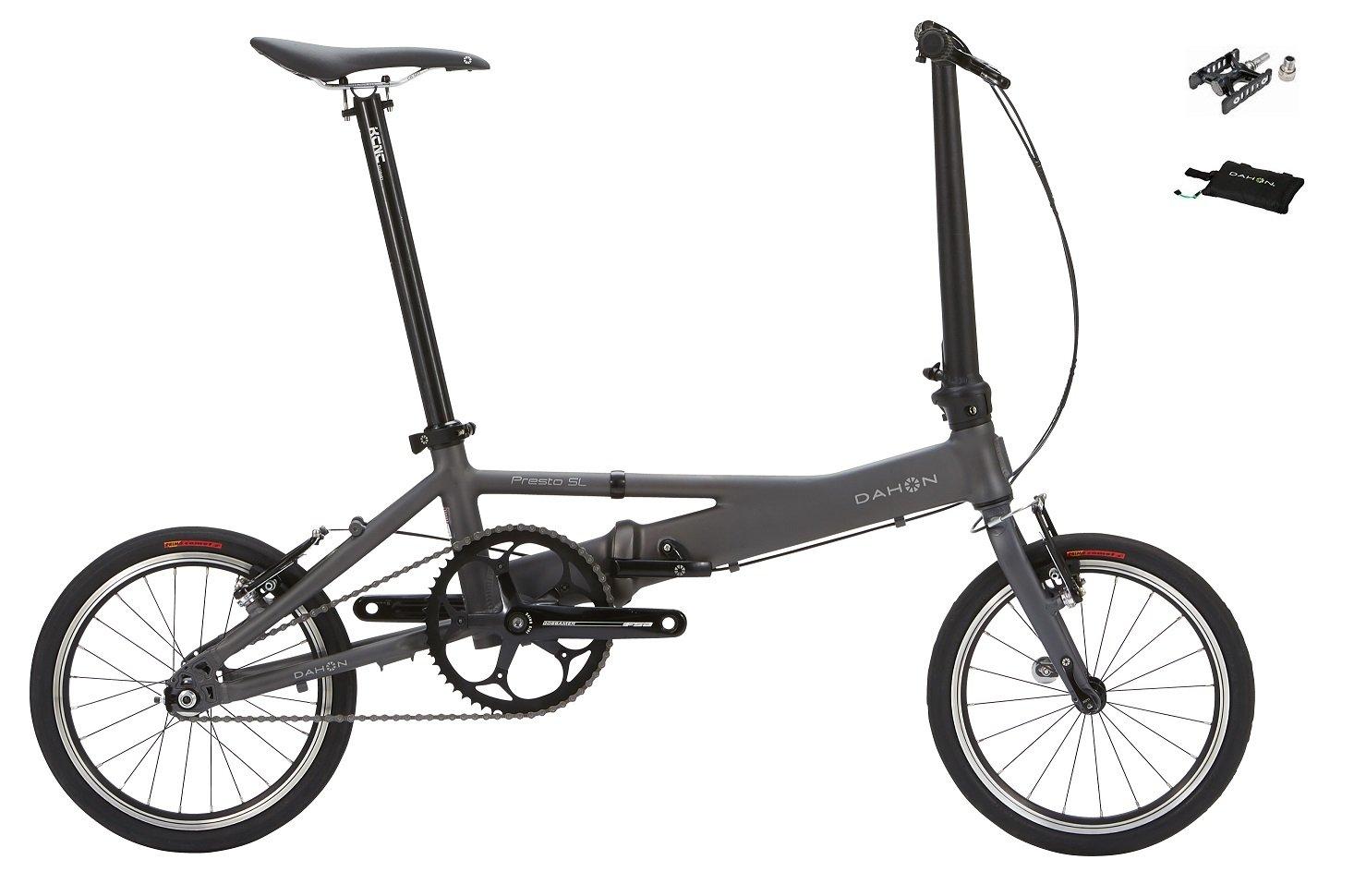2018年モデル DAHON(ダホン) PRESTO SL(プレスト SL) 16インチ 折り畳み自転車 着脱ペダル、輪行バッグ付属 B0793PNWC5