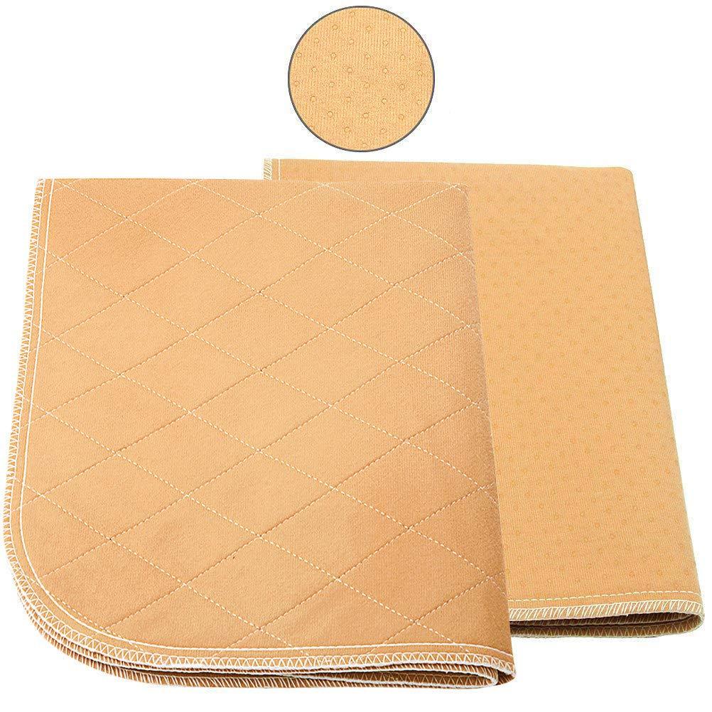 Mihachi Pet Pee Pad 2 Pack - 24''x 20'', Reusable Washable Dog Training Pee Pads, Anti-Slip Waterproof Bed Mat