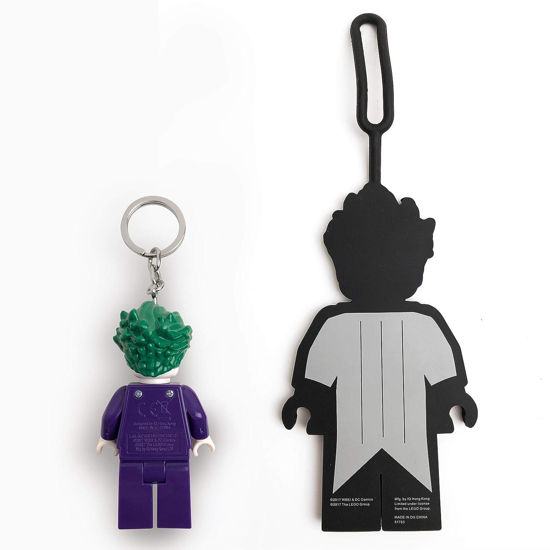 LEGO Batman Movie Joker Minifigure Key Light and Luggage Tag Duo