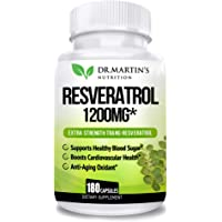 Extra Strength 100% Pure Resveratrol 1200mg - 180 Capsules - 3 Months Supply | Antioxidant Supplement | Natural Trans…