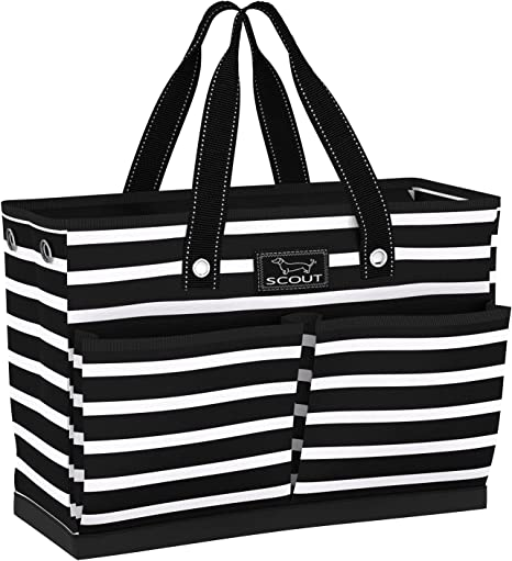 SCOUT BJ Bag, Large Tote Bag with 4 Exterior Pockets & Interior Zippered Compartment
