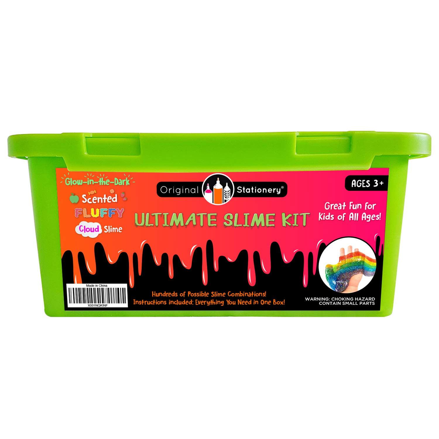 Ultimate Slime Kit Supplies Stuff for Girls and Boys Making Slime [Everything in ONE Box] Kids can Make Unicorn, Glitter, Cloud, Rainbow Slimes and More. Includes Glue and Full Instructions.