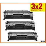 Oferta 3X2 Konver CE505A Tóner para- Impresora LaserJet P2035. Pack Ahorro K505A 2 cartuchos de Tóner Sustituye CE505A/ 05A NON OEM. Impresoras Compatibles: LaserJet P2030 Series / P2033 / P2033 N. Enviado desde Madrid.