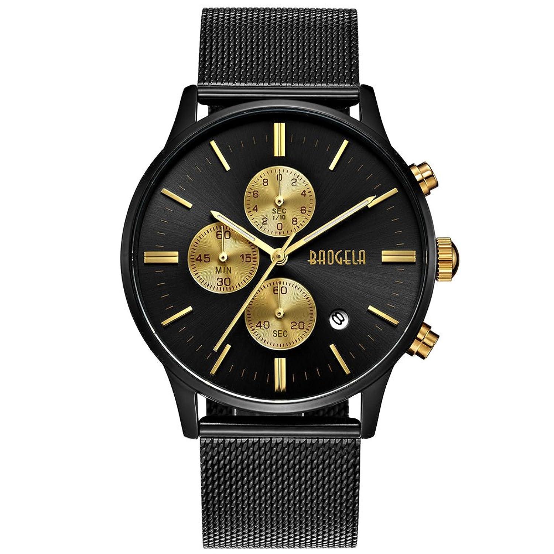 herren uhren schwarz edelstahl mesh armband elegant analog quarz uhr gold zi ebay. Black Bedroom Furniture Sets. Home Design Ideas