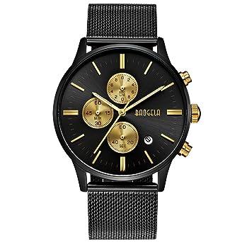 Etwas Neues genug Herren Uhren Schwarz Edelstahl Mesh Armband Elegant - Analog Quarz @EL_25